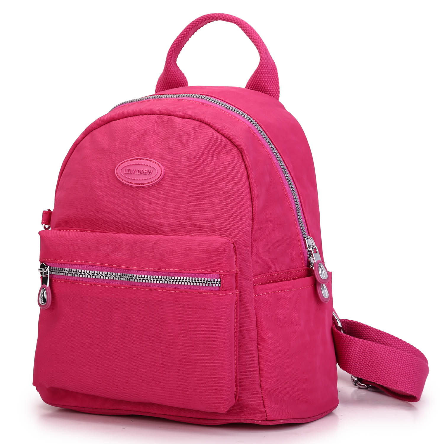 Lily & Drew Nylon Mini Casual Travel Daypack Backpack Purse (Solid ...